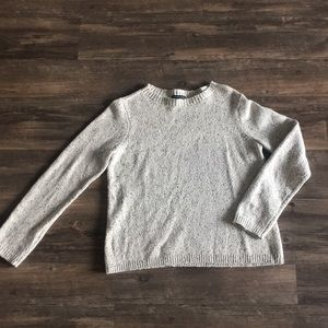 Eileen Fisher light heathered grey sweater